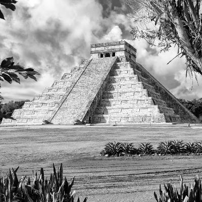¡Viva Mexico! Square Collection - El Castillo Pyramid - Chichen Itza XIV-Philippe Hugonnard-Photographic Print