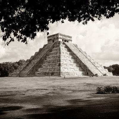 ¡Viva Mexico! Square Collection - El Castillo Pyramid - Chichen Itza-Philippe Hugonnard-Photographic Print
