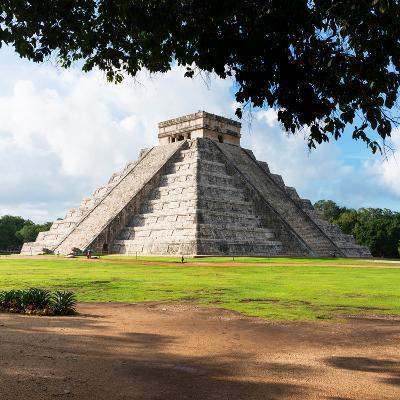 ¡Viva Mexico! Square Collection - El Castillo Pyramid in Chichen Itza IX-Philippe Hugonnard-Photographic Print