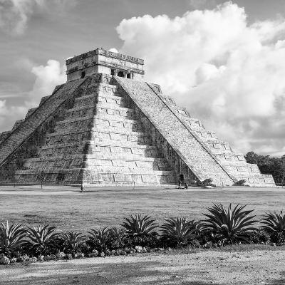 ¡Viva Mexico! Square Collection - El Castillo Pyramid in Chichen Itza VIII-Philippe Hugonnard-Photographic Print