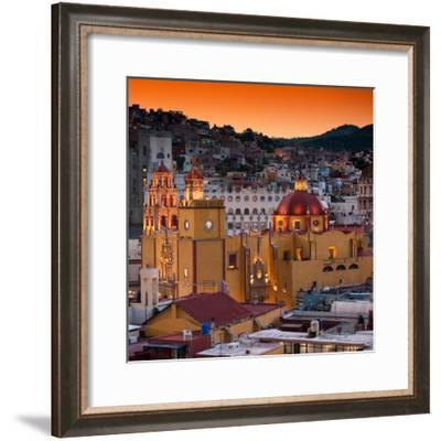 ¡Viva Mexico! Square Collection - Guanajuato at Sunset III-Philippe Hugonnard-Framed Photographic Print