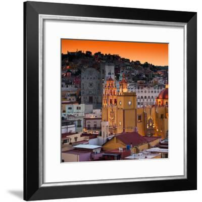 ¡Viva Mexico! Square Collection - Guanajuato at Sunset IV-Philippe Hugonnard-Framed Photographic Print