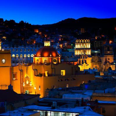 ¡Viva Mexico! Square Collection - Guanajuato by Night II-Philippe Hugonnard-Photographic Print
