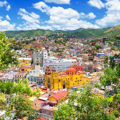 ¡Viva Mexico! Square Collection - Guanajuato Cityscape IX-Philippe Hugonnard-Photographic Print