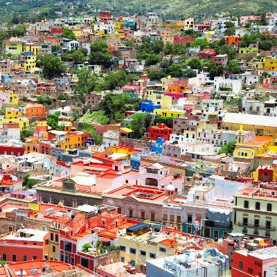 ¡Viva Mexico! Square Collection - Guanajuato Cityscape VII-Philippe Hugonnard-Photographic Print