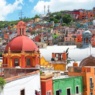 ¡Viva Mexico! Square Collection - Guanajuato Colorful City V-Philippe Hugonnard-Photographic Print