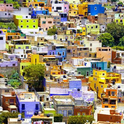 ¡Viva Mexico! Square Collection - Guanajuato Colorful Cityscape I-Philippe Hugonnard-Photographic Print