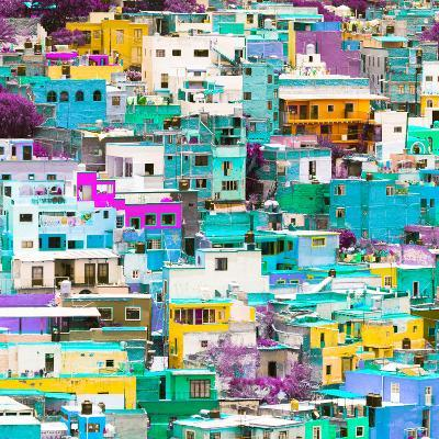 ¡Viva Mexico! Square Collection - Guanajuato Colorful Cityscape V-Philippe Hugonnard-Photographic Print