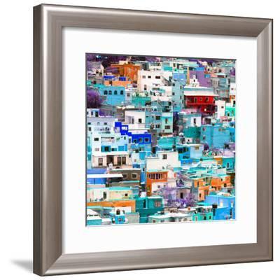 ¡Viva Mexico! Square Collection - Guanajuato Colorful Cityscape VII-Philippe Hugonnard-Framed Photographic Print