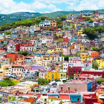 ¡Viva Mexico! Square Collection - Guanajuato Colorful Cityscape XVI-Philippe Hugonnard-Photographic Print
