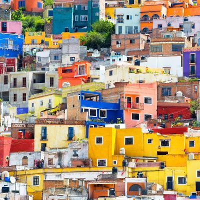 ¡Viva Mexico! Square Collection - Guanajuato Colorful Cityscape XVII-Philippe Hugonnard-Photographic Print