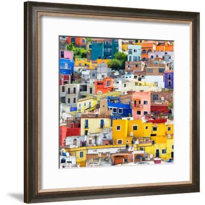 ¡Viva Mexico! Square Collection - Guanajuato Colorful Cityscape XVII-Philippe Hugonnard-Framed Photographic Print