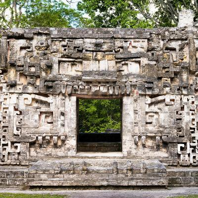 ¡Viva Mexico! Square Collection - Hochob Mayan Pyramids of Campeche-Philippe Hugonnard-Photographic Print
