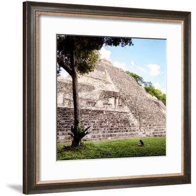 ¡Viva Mexico! Square Collection - Mayan Pyramid III-Philippe Hugonnard-Framed Photographic Print