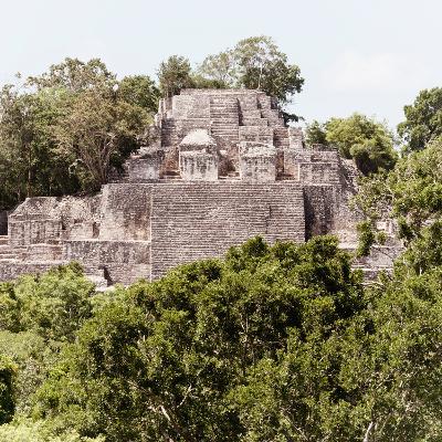 ¡Viva Mexico! Square Collection - Mayan Pyramid of Calakmul III-Philippe Hugonnard-Photographic Print