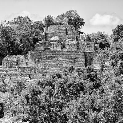 ¡Viva Mexico! Square Collection - Mayan Pyramid of Calakmul IV-Philippe Hugonnard-Photographic Print