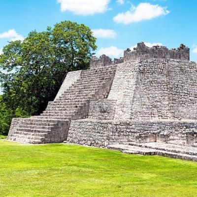 ¡Viva Mexico! Square Collection - Mayan Ruins - Edzna II-Philippe Hugonnard-Photographic Print