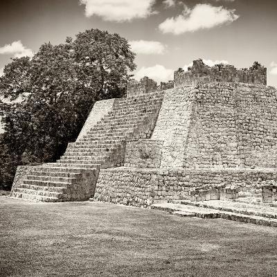 ¡Viva Mexico! Square Collection - Mayan Ruins - Edzna III-Philippe Hugonnard-Photographic Print