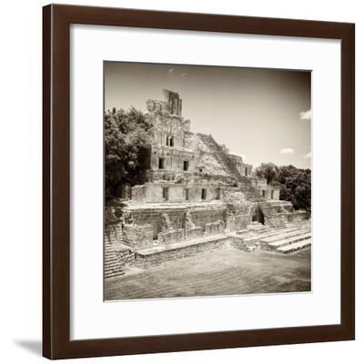 ¡Viva Mexico! Square Collection - Mayan Ruins - Edzna IX-Philippe Hugonnard-Framed Photographic Print