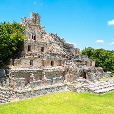 ¡Viva Mexico! Square Collection - Mayan Ruins - Edzna VIII-Philippe Hugonnard-Photographic Print