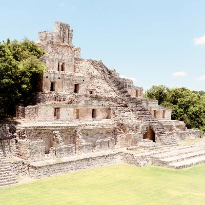 ¡Viva Mexico! Square Collection - Mayan Ruins - Edzna X-Philippe Hugonnard-Photographic Print