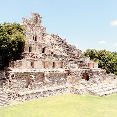 ¡Viva Mexico! Square Collection - Mayan Ruins - Edzna X-Philippe Hugonnard-Photographic Print