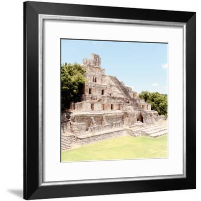 ¡Viva Mexico! Square Collection - Mayan Ruins - Edzna X-Philippe Hugonnard-Framed Photographic Print