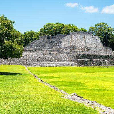 ¡Viva Mexico! Square Collection - Mayan Ruins in Edzna I-Philippe Hugonnard-Photographic Print