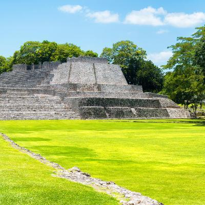 ¡Viva Mexico! Square Collection - Mayan Ruins in Edzna II-Philippe Hugonnard-Photographic Print