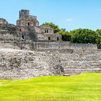 ¡Viva Mexico! Square Collection - Mayan Ruins in Edzna III-Philippe Hugonnard-Photographic Print