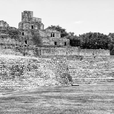 ¡Viva Mexico! Square Collection - Mayan Ruins in Edzna V-Philippe Hugonnard-Photographic Print