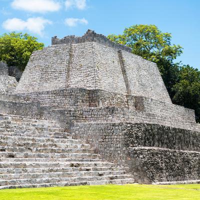 ¡Viva Mexico! Square Collection - Mayan Ruins in Edzna VI-Philippe Hugonnard-Photographic Print