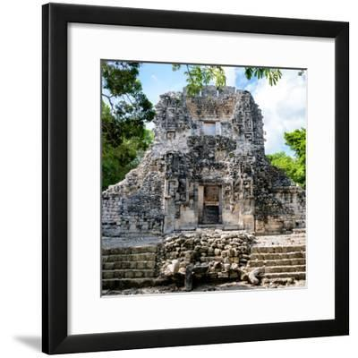 ¡Viva Mexico! Square Collection - Mayan Ruins of Campeche-Philippe Hugonnard-Framed Photographic Print
