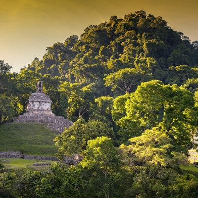 ¡Viva Mexico! Square Collection - Mayan Temple at Sunrise III-Philippe Hugonnard-Photographic Print