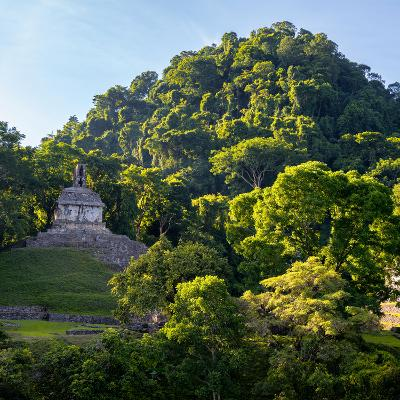 ¡Viva Mexico! Square Collection - Mayan Temple at Sunrise-Philippe Hugonnard-Photographic Print