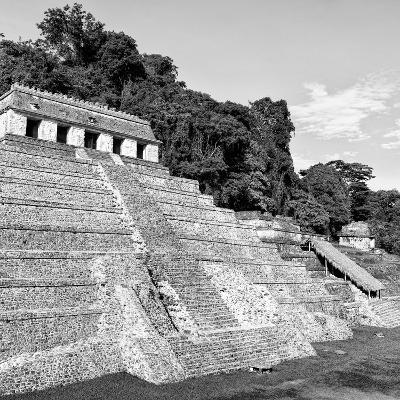 ¡Viva Mexico! Square Collection - Mayan Temple of Inscriptions in Palenque X-Philippe Hugonnard-Photographic Print