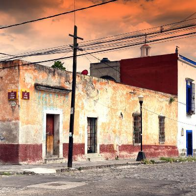 ¡Viva Mexico! Square Collection - Mexican Street at Sunset-Philippe Hugonnard-Photographic Print