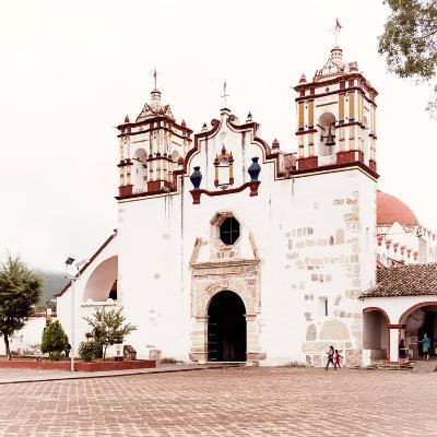 ¡Viva Mexico! Square Collection - Mexican White Church-Philippe Hugonnard-Photographic Print
