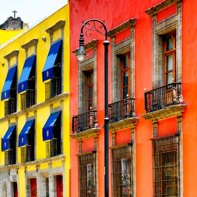 ¡Viva Mexico! Square Collection - Mexico City Colorful Facades II-Philippe Hugonnard-Photographic Print