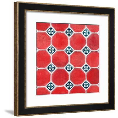 ¡Viva Mexico! Square Collection - Mosaics Red Bricks-Philippe Hugonnard-Framed Photographic Print