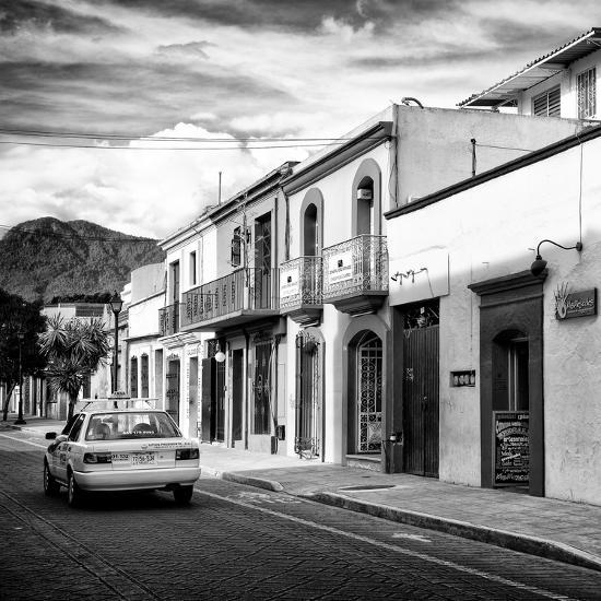 ¡Viva Mexico! Square Collection - Oaxaca Street with Yellow Taxi II-Philippe Hugonnard-Photographic Print