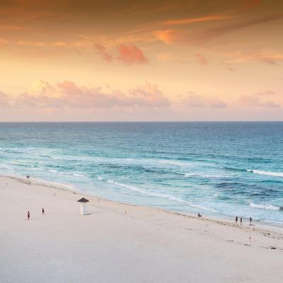 ¡Viva Mexico! Square Collection - Ocean View at Sunset in Cancun II-Philippe Hugonnard-Photographic Print