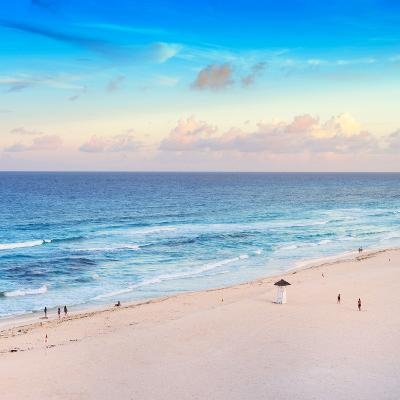 ¡Viva Mexico! Square Collection - Ocean View at Sunset in Cancun-Philippe Hugonnard-Photographic Print
