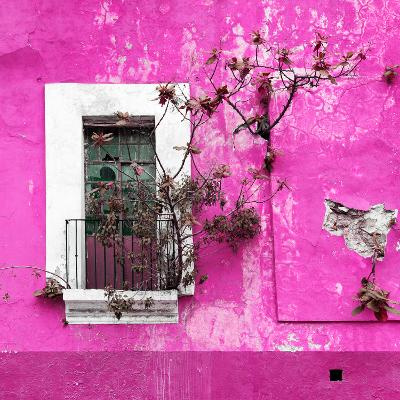 ¡Viva Mexico! Square Collection - Old Deep Pink Facade II-Philippe Hugonnard-Photographic Print