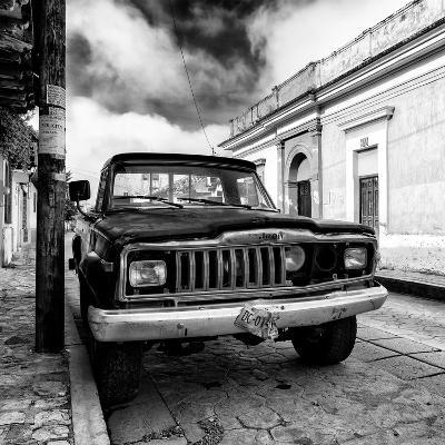 ¡Viva Mexico! Square Collection - Old Jeep in the street of San Cristobal I-Philippe Hugonnard-Photographic Print