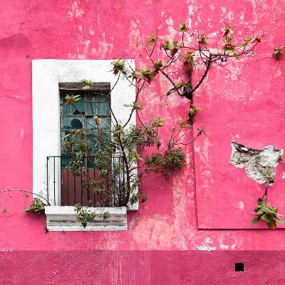 ¡Viva Mexico! Square Collection - Old Pink Facade II-Philippe Hugonnard-Photographic Print