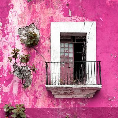 ¡Viva Mexico! Square Collection - Old Pink Facade-Philippe Hugonnard-Photographic Print