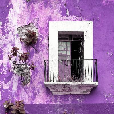 ¡Viva Mexico! Square Collection - Old Purple Facade-Philippe Hugonnard-Photographic Print