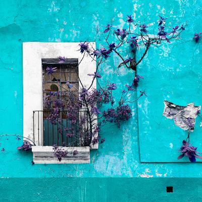 ¡Viva Mexico! Square Collection - Old Turquoise Facade II-Philippe Hugonnard-Photographic Print