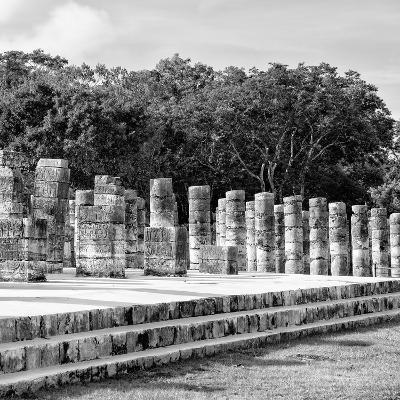 ¡Viva Mexico! Square Collection - One Thousand Mayan Columns in Chichen Itza III-Philippe Hugonnard-Photographic Print